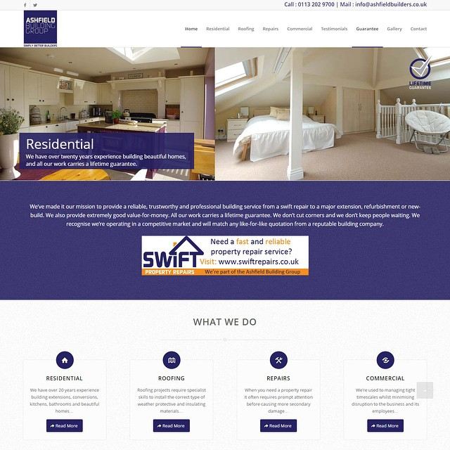 New #website live. After two weeks the #website is already ranking top for their two major search terms on #google! We build websites to build businesses! #web #design #leeds #seo #search #smallbusinesses #webdesign  #builders
