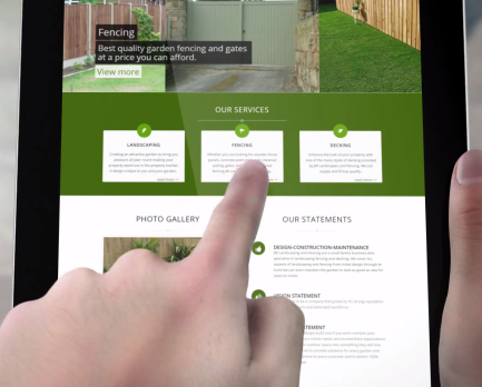 web design for landscapers