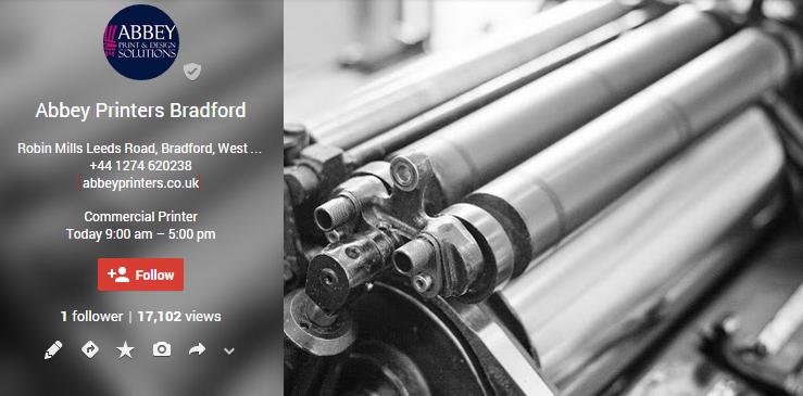Abbey Printers Bradford - Google+